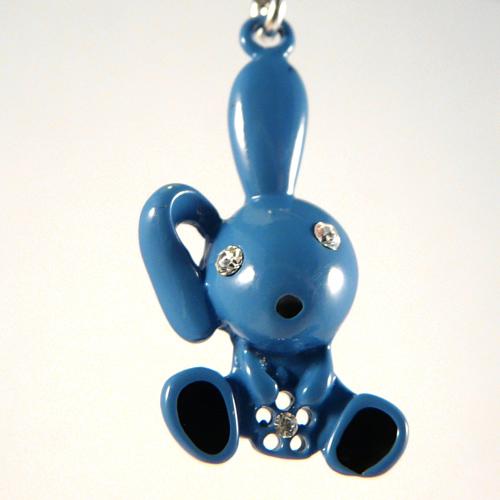 zwanger piercing blauw konijn