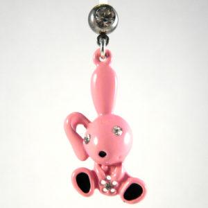 zwangerschap piercing roze konijn