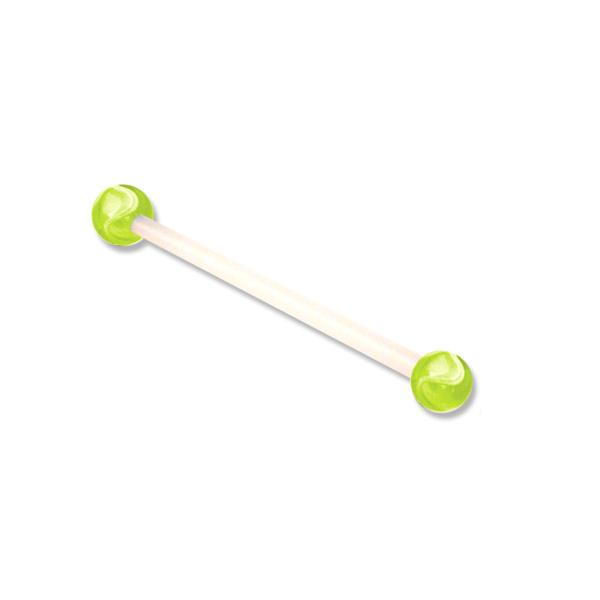 zwanger piercing marble geel